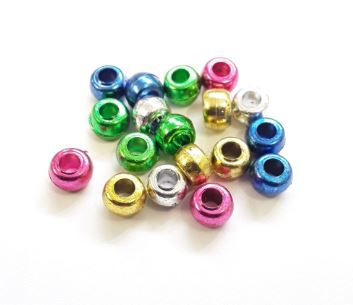 Metallic Kids Craft Pony Beads
