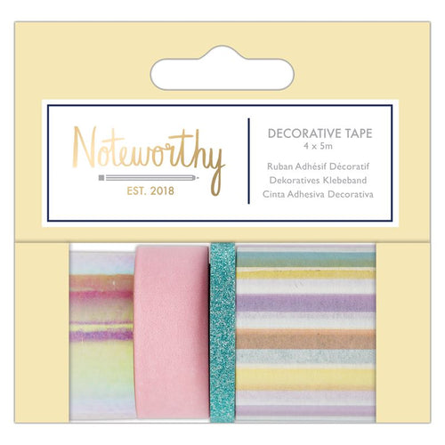 Noteworthy Pastel Hues Decorative Washi Tape