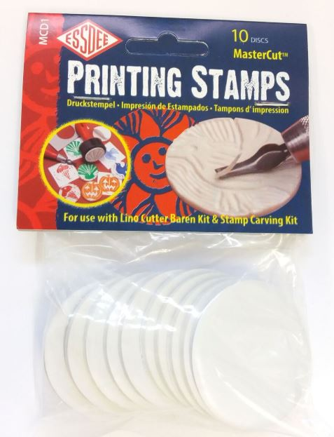 Lino Cutting Printing Stamp Discs refill pack |  Pack of 10