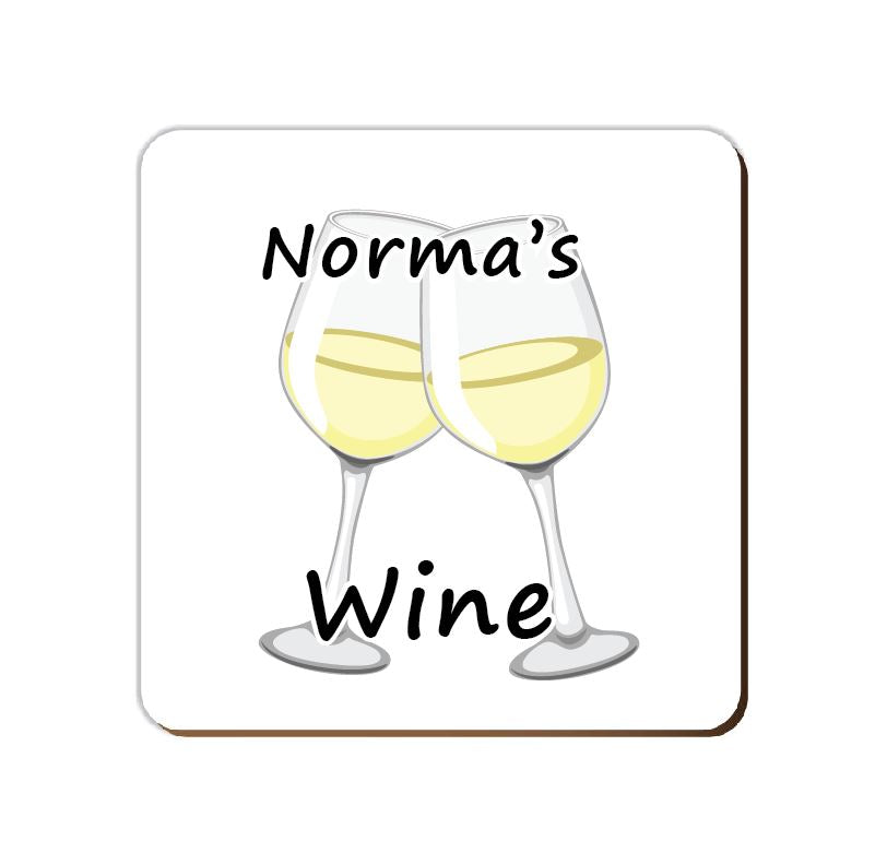 ______'s White Wine | Personalised Drinks Coaster