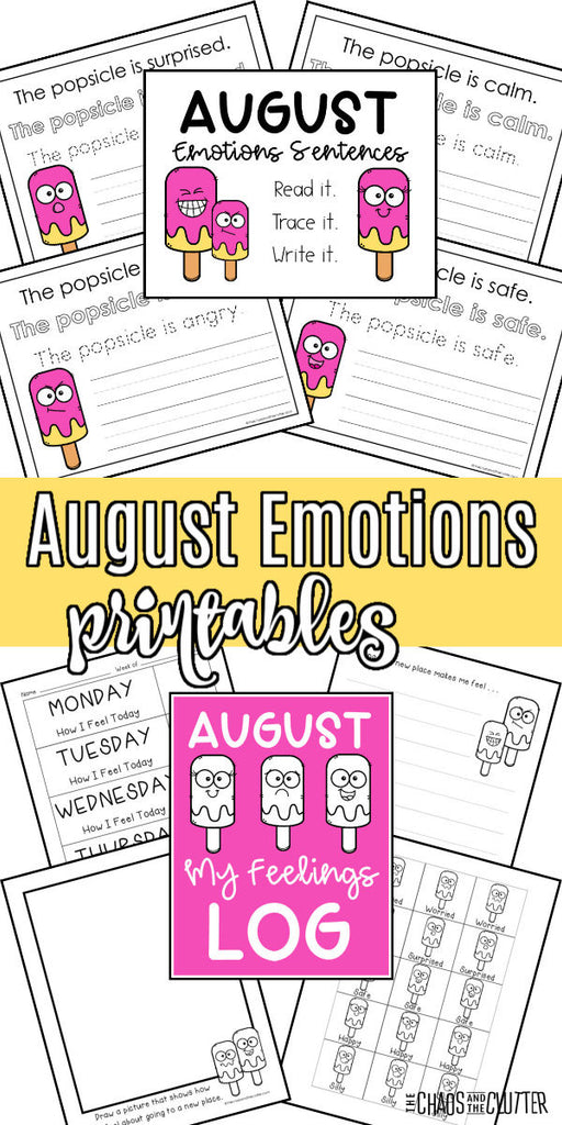 August Emotions Printables