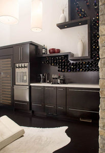 Wine racks come in all shapes and sizes and while they're not a must-have they definitely stand out and have the ability to add character to any interior design