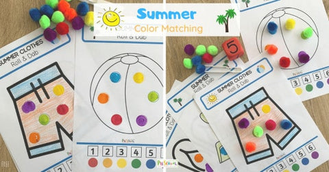 Summer Color Matching Activity