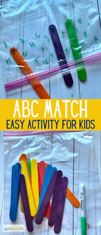 Popsicle Stick ABC Match Game