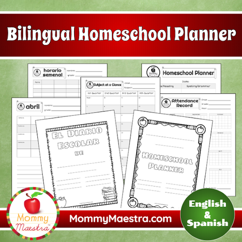 Free Bilingual Homeschool Planner