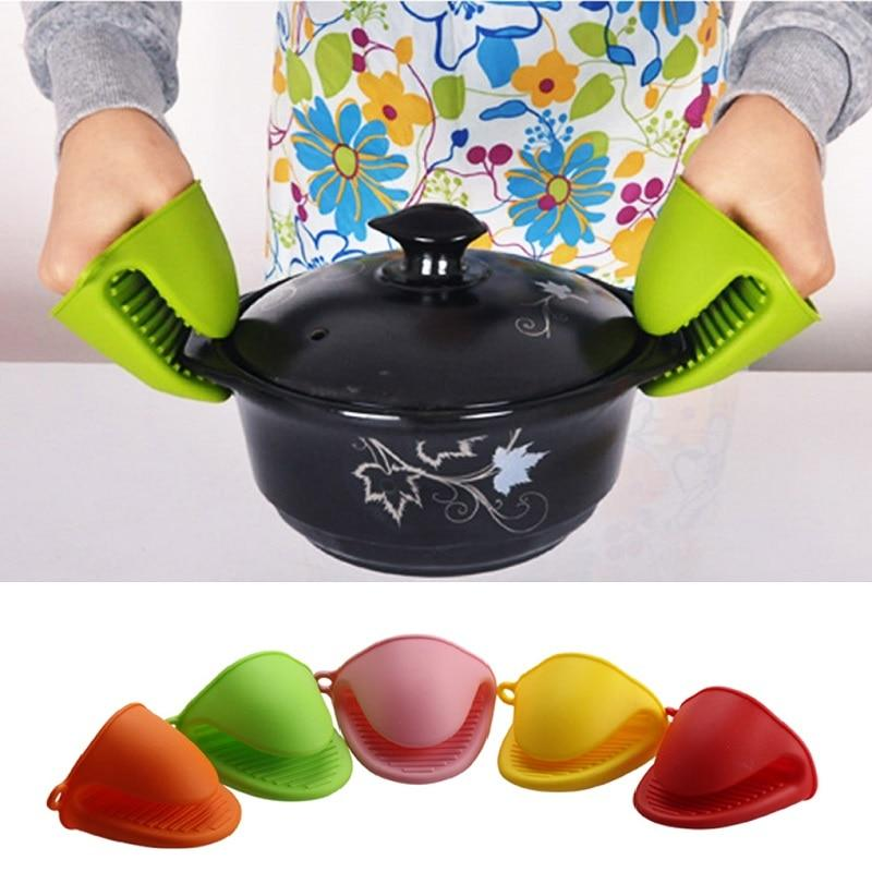 1 PCS Anti-scald Thicken Silicone Kitchen Organizer Insulated Heat Pot Clips Microwave Oven Gloves Hot Plate Clip