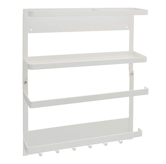 Plate Magnetic Kitchen Organizer Rack, White, 2560