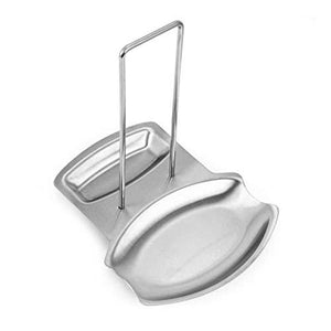 Farmerly Stainless Steel Pan Stand Pot Cover Rack Lid Spoon Rest Holder Kitchen Tool New ()