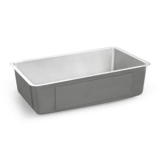 Kitchen zuhne 32 inch under mount single bowl 16 gauge stainless steel kitchen sink with offset drain tight corners fits 36 inch cabinet