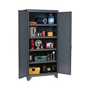 Buy edsal ehd7836 industrial gray 14 gauge steel storage cabinet 4 adjustable shelves 1800 lb capacity 78 height x 36 width x 24 depth