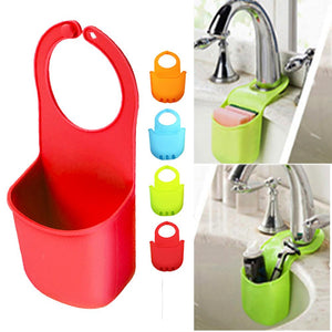 2 Sink Sponge Holder Caddy Soap Basket Cup Storage Drainer Kitchen Organizer Set