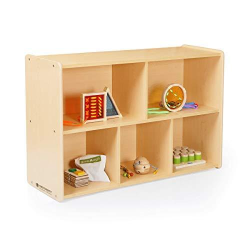 Products guidecraft 5 compartment storage shelves 30 toddlers wooden organizer cabinet for school home or daycare teachers book cubby and toy shelf