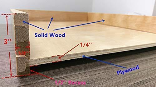 Selection elysian roll wood tray drawer boxes kitchen organizers cabinet slide out shelves pull out shelf include 2 pack full extension side sliders 2 rear mounting brackets pot 6 30w x 21d
