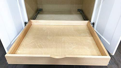 Related elysian roll wood tray drawer boxes kitchen organizers cabinet slide out shelves pull out shelf include 2 pack full extension side sliders 2 rear mounting brackets pot 6 30w x 21d