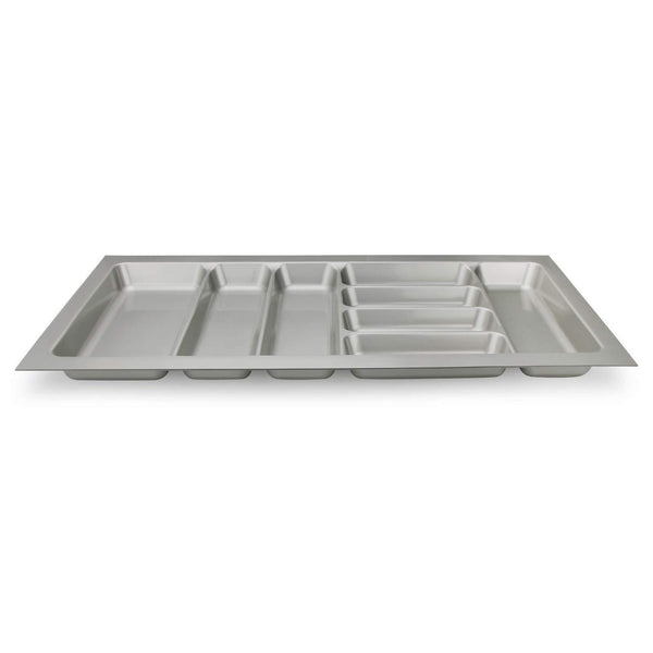 Best seller  8 compartments cutlery tray insert utensil drawer divider organiser 900mm width cabinet abs plastic gray adjustable