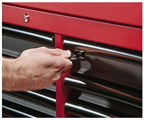 Discover the heavy duty drawer 16 tool chest 46 in and rolling cabinet set red and black personal valuables storage drawer with separate lock in the tool chest