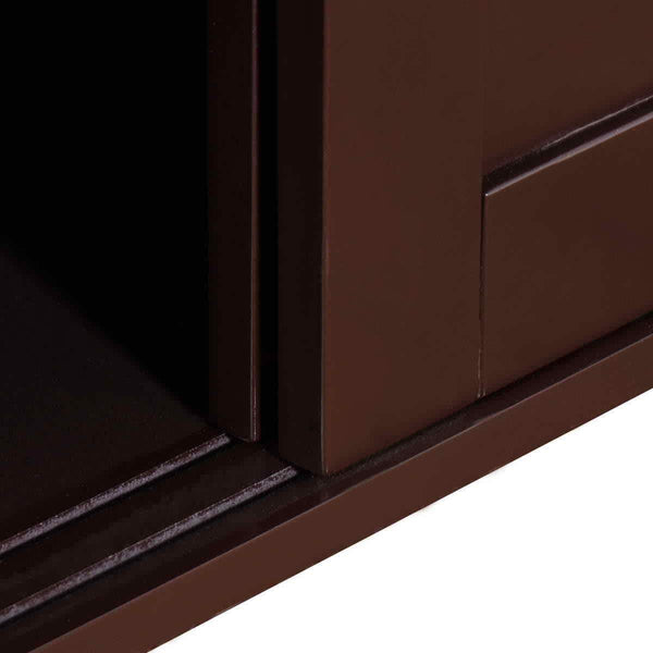 Online shopping waterjoy kitchen storage sideboard stackable buffet storage cabinet with sliding door panels for home kitchen antique brown