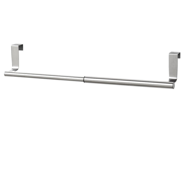 Budget friendly youcopia over the cabinet door expandable towel bar stainless steel