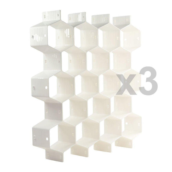 Online shopping xin store white honeycomb drawer organizers dividers for underwear socks bras ties belts scarves 3 set x cabinet clapboard included 24 pieces