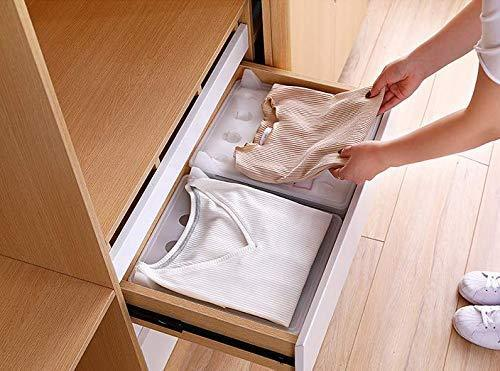 Great closet mess killer l foldable stackable folded t shirt clothing organizer l fold sort laundry system l for drawers dresser shelves suitcase wardrobe cabinets l large jeans pants pack of 5