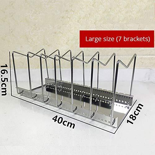 Adjustable Stainless Steel Pot Lid Holder Pan Dish Rack Drain Chopping Board Shelf Home Organizer Kitchen Accessories Large