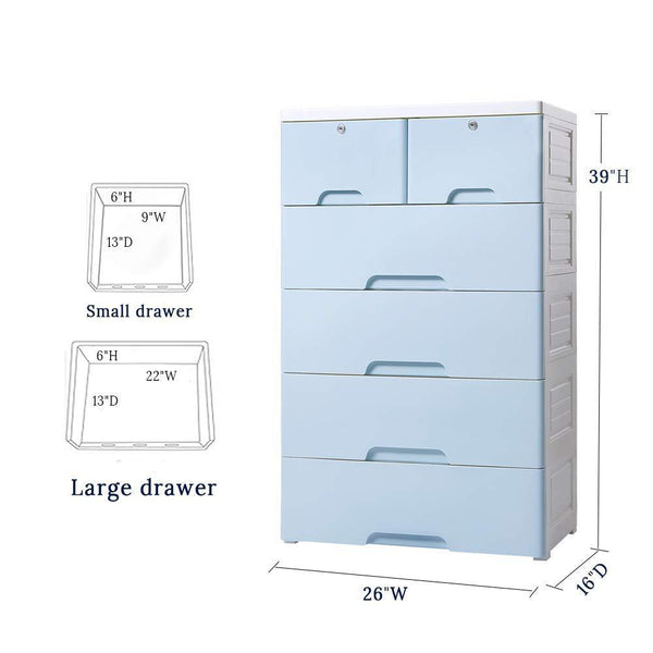 Get nafenai 5 drawer kids storage cabinet home storage drawers with lock wheel plastic bedroom storage bin closet kids toy box clothes storage cabinet