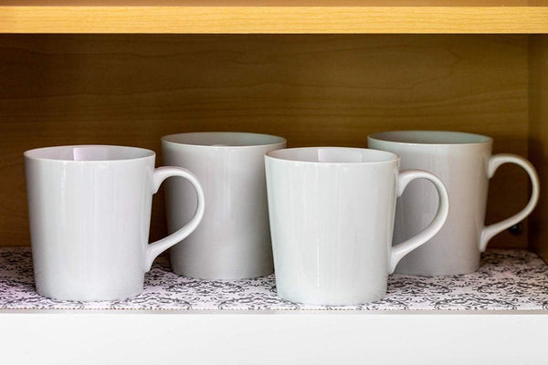Top duck smooth top easy liner shelf liner top cabinet multipack 6 rolls each 12 width 10 length grey damask fð¾ur ñ€ð°ñ�k