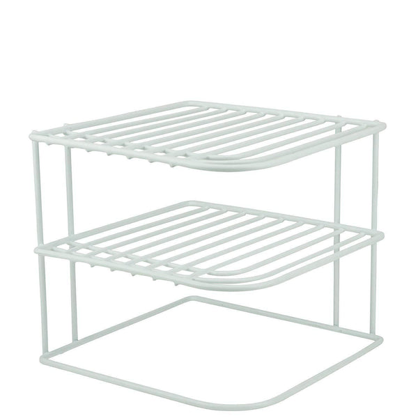 Cheap decorrack set of 2 countertop corner shelf organizer 3 tier heavy duty corner rack counter and cabinet corner helper shelf free standing rack for kitchen counter pantry and cupboards white
