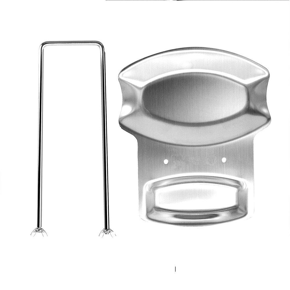 Stainless Steel Lid and Spoon Rest, Utensils Lid Holder Spoon Holder Lid Rest Lid Shelf Kitchen Utensils Holder,Soup Spoon Rack