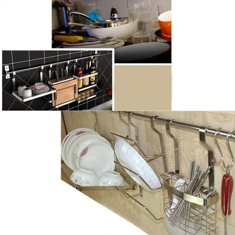 Pot Lid Holder Rack Kitchen Cupboard Storage Organizer Wall-Mounted Kitchen Panty holderss