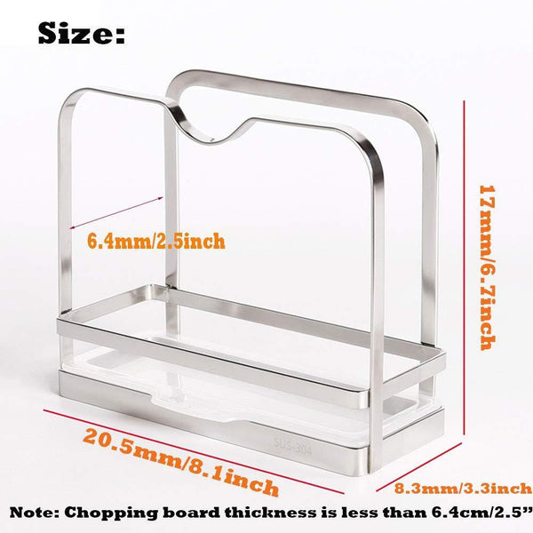 Online shopping sus 304 stainless steel pot lid holder cutting board holder pot lid rack storage pan lid cover cabinet pantry holder rack organizer