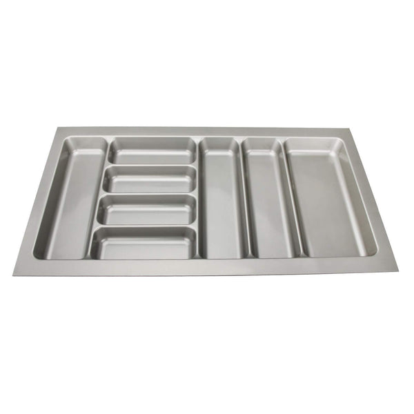 Best 8 compartments cutlery tray insert utensil drawer divider organiser 900mm width cabinet abs plastic gray adjustable