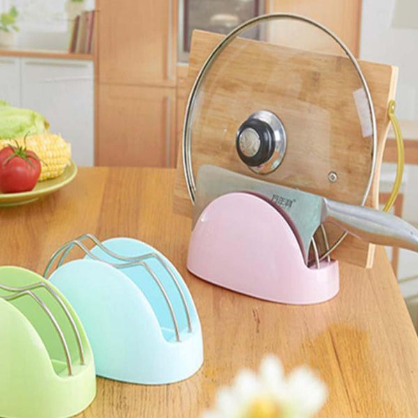ANQI 3-in-1 Cutting Board Holder Portable Knife Holder Thickening Drain Rack, Pot Lid Rack Multifunctional Storage Rack 2PCS