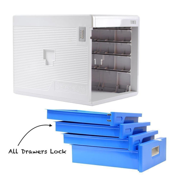 Cheap locking drawer cabinet desk organizer home office desktop file storage box w 4 lock drawers great for filing organizing paper documents tools kids craft supplies serenelife slfcab20