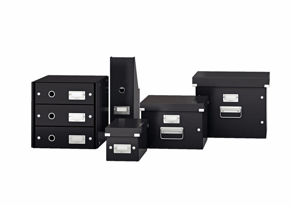 Discover the best leitz click store storage box 4 drawer collapsible stackable patented design bin cabinet desk organizer black 60490095