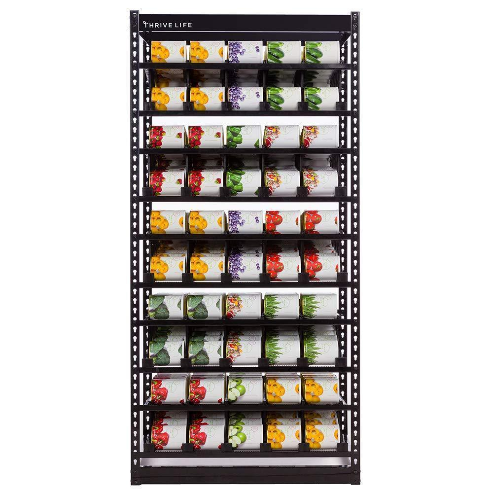 "Shelf Reliance FRS Can Storage - Customizable Can Lengths - First In First Out Rotation - Kitchen Organizer - Canned Goods - Pantry Size Cans - 75"" x 36"" x 24""- Black(Pantry Unit)"