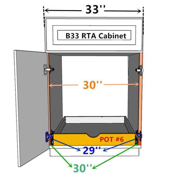 Save on elysian roll wood tray drawer boxes kitchen organizers cabinet slide out shelves pull out shelf include 2 pack full extension side sliders 2 rear mounting brackets pot 6 30w x 21d