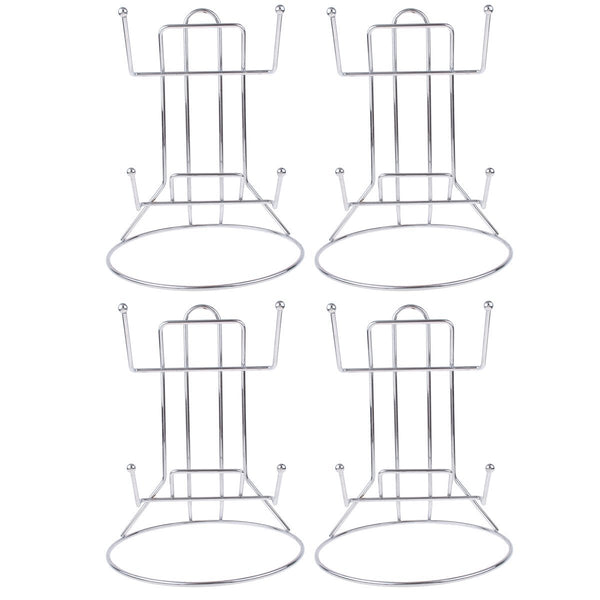Kmise Stainless Steel Kitchen Shelve Pot Lid Frame Rack Rest Holders for Home Restaurant 4 Pcs