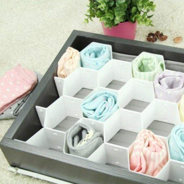 Order now xin store white honeycomb drawer organizers dividers for underwear socks bras ties belts scarves 3 set x cabinet clapboard included 24 pieces