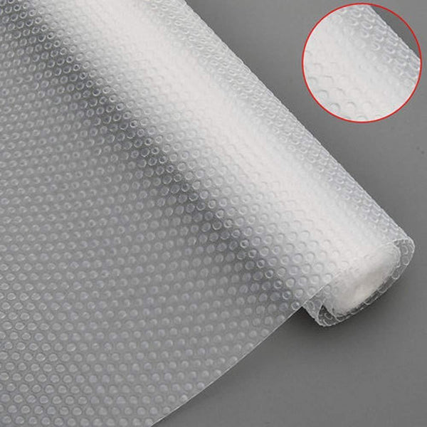 New bloss plastic shelf liners cabinet drawer liner non slip shelf liner non adhesive refrigerator mat cupboard pad no odor for kitchen home clear 17 7 59 inch