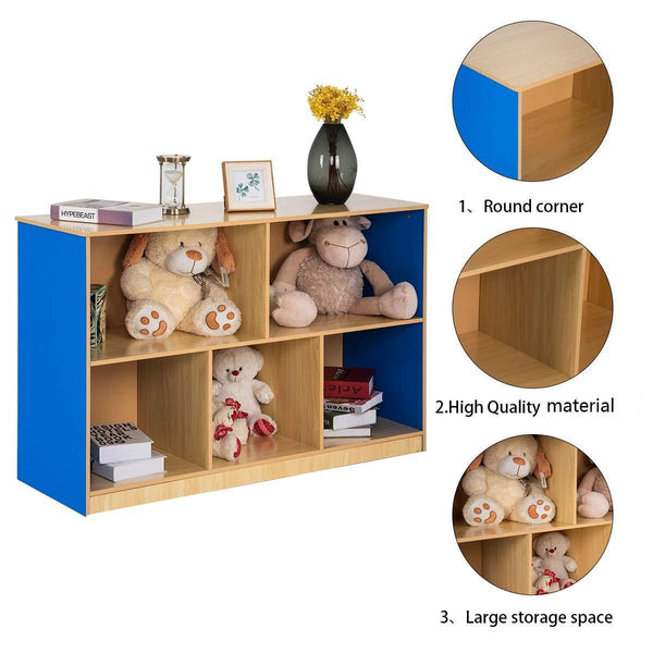 Discover the tangkula kids toy storage organizer with 5 storage bins toy cabinet storage containers for bedroom playroom school lightweight children collection shelf multi bin storage cubby with compartments