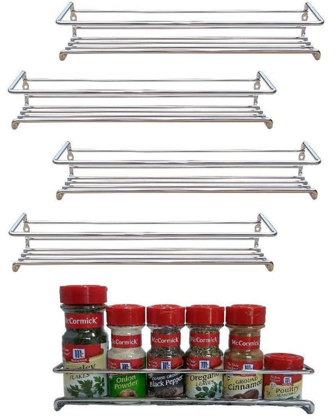 Buy premium presents 5 pack wall mount spice rack organizer for cabinet spice shelf seasoning organizer pantry door organizer spice storage 12 x 3 x 3 inches brand 1