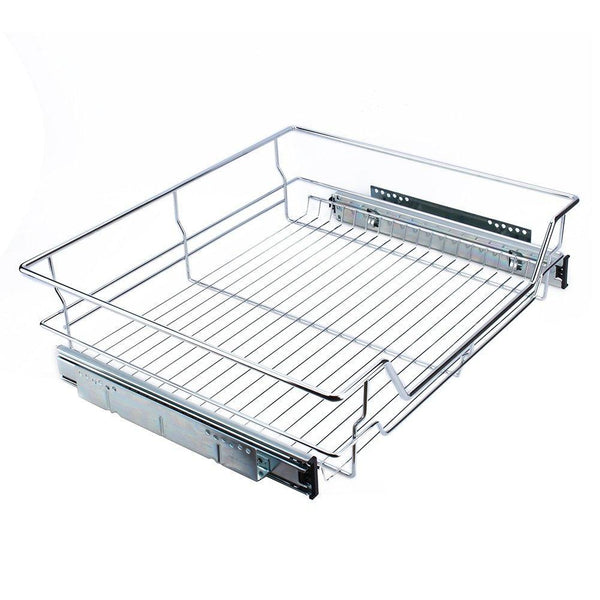 Kitchen gototop kitchen sliding cabinet organizer pull out chrome wire storage basket drawer for kitchen cabinets cupboards 20 3 17 35 3
