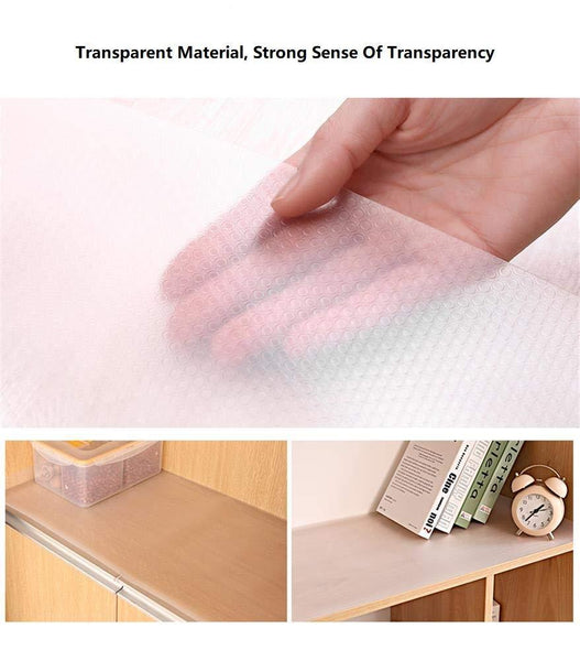 Order now bloss plastic shelf liners cabinet drawer liner non slip shelf liner non adhesive refrigerator mat cupboard pad no odor for kitchen home clear 17 7 59 inch