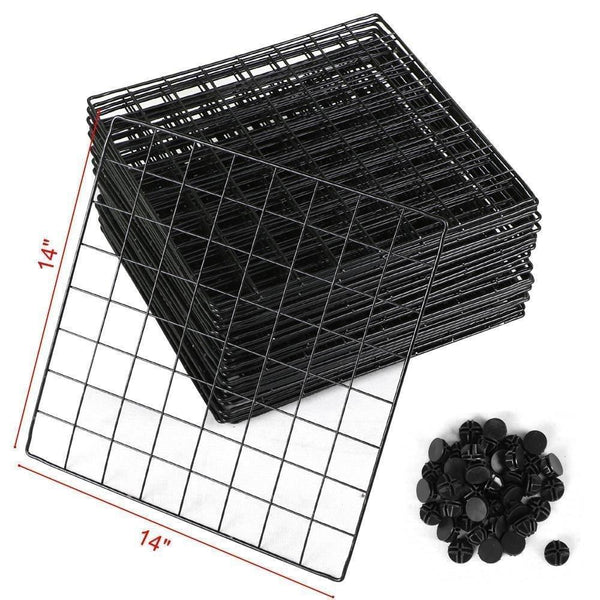 Get genenic 12 cube closet organizer garage storage racks sets shelf cabinet wire grids panels and units for books plants toys shoes clothes stainless steel black