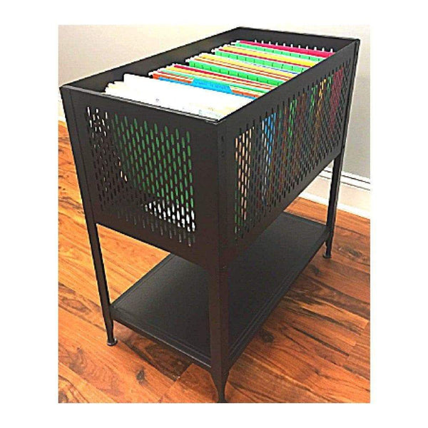 Best hanging file folder cart on wheels filing rolling storage organizer cabinet letter heavy duty steel open top ebook