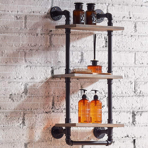 Results warm van industrial pipe wood wall mount shelves retro clapboard tool shelf bathroom kitchen accessories storage cabinet towel rack