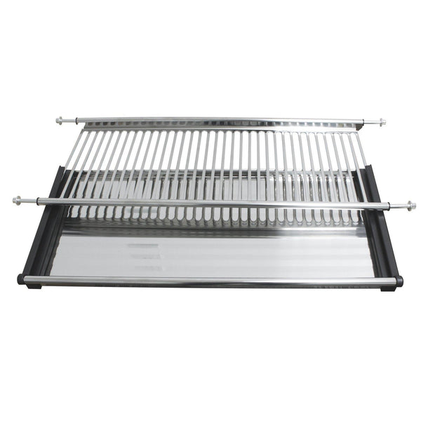 New gobrico stainless steel 2 tier dish drying rack for width 800mm cabinet plate bowl storage organizer holder