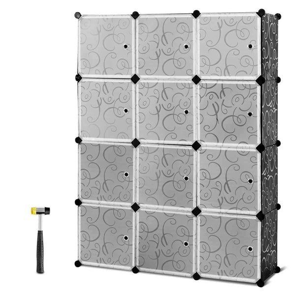 Order now tangkula diy storage cubes portable clothes closet wardrobe cabinet bedroom armoire diy storage organizer closet 12 cubes