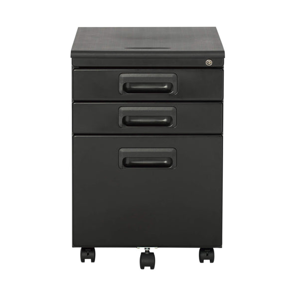 Heavy duty craft hobby essentials 62002 metal 3 vertical mobile filing cabinet 15 75 w x 22 d craft supply storage with locking drawers in black